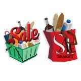 Объекты продажи ключевые визуальные Стоковое Изображение