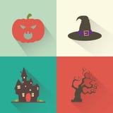 Объекты хеллоуина Стоковая Фотография RF