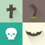 Объекты хеллоуина Стоковые Фотографии RF