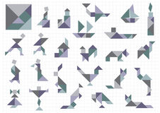 Объекты Tangram иллюстрация штока