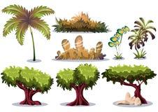 Объект ландшафта природы вектора шаржа с отделенными слоями для имущества игрового дизайна искусства и анимации игры Стоковое Изображение