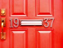 Объект-двери с 1937 в красном цвете Стоковые Изображения RF