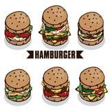 Объект гамбургера Стоковые Изображения RF