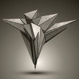 Объект несимметричной пиковой технологии металлический, осложненное cybernet иллюстрация вектора