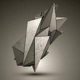 Объект несимметричной пиковой технологии металлический иллюстрация штока