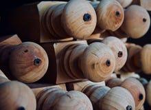 Объект округлой формы Брауна деревянный стоковые изображения