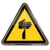 Объект опасности остроконечный иллюстрация вектора