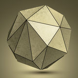 Объект технологии 3d Grunge медный сферически, футуристический Стоковые Изображения RF