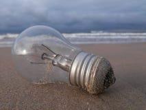 Объект электронного в пляже Стоковое Изображение