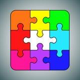 Объект multicolors концепции предпосылки головоломки иллюстрация вектора
