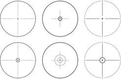 Объем снайпера 6 различных форм бесплатная иллюстрация