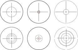 Объем снайпера 6 различных форм иллюстрация вектора