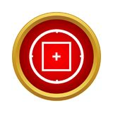 Объем цели снайпера или значок визирования в простом стиле бесплатная иллюстрация
