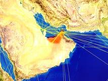 Объениненные Арабские Эмираты на земле с сетью бесплатная иллюстрация