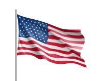 Объединенное положение флага Америки Стоковая Фотография RF