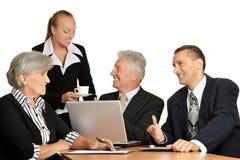 Объединенные дружелюбные businessmans Стоковая Фотография