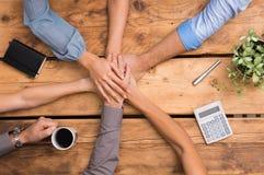 Объединенные руки бизнесменов Стоковая Фотография