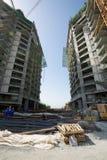 Объединенные эмираты, Дубай, 06/07/2015, строительная площадка на ладони, Дубай развития гостиницы наместника Стоковые Изображения RF