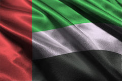 Объединенные эмираты сигнализируют символ иллюстрации 3D, флаг нации ОАЭ Стоковое фото RF