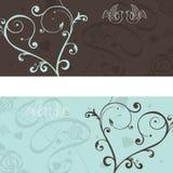 Объявление венчания с голубями Стоковые Фотографии RF