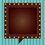 Объявление дела концепции дела дизайна для речи квадрата объявления средств массовой информации знамен продвижения вебсайта пусто иллюстрация штока
