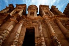 Объявление-Deir монастыря, Petra, Джордан Стоковые Фото