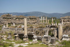 Объявление Maeandrum магнезии города древнегреческия, Турция стоковые изображения rf