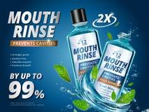 Объявления rinse рта бесплатная иллюстрация