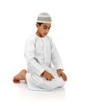 объяснение исламское молит стоковое изображение