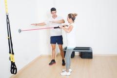 Объяснять тренировку фитнеса Стоковые Изображения RF