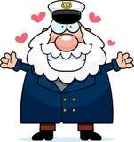 Объятие капитана дальнего плавания шаржа Стоковое Изображение RF