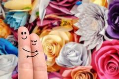 Объятие пальца Стоковая Фотография
