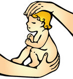 Объятие ребенка иллюстрация штока