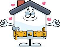Объятие улучшения дома шаржа иллюстрация штока