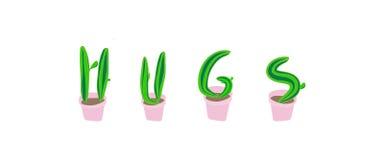 Объятия от кактусов Стоковые Фото