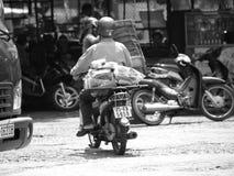Обычная жизнь в городке ОТТЕНКА ВЬЕТНАМА Стоковые Фотографии RF