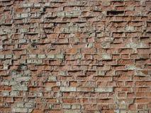 Обычная красная кирпичная кладка, старая стена Стоковые Фотографии RF