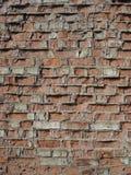 Обычная красная кирпичная кладка, старая стена Стоковое Изображение