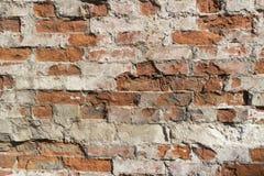 Обычная красная кирпичная кладка, старая стена Стоковые Фото