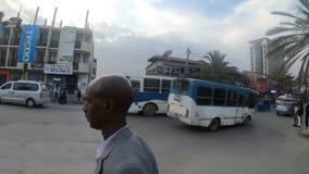 Обычное Ethiopians на улице Mekelle видеоматериал