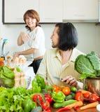 Обычные пары варя с овощами Стоковые Фото