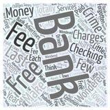 Обязанности банка которые предпосылка концепции облака слова злодеяния иллюстрация вектора