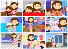 Обязанности иллюстрации персонажа из мультфильма матери бесплатная иллюстрация