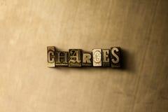 ОБЯЗАННОСТИ - конец-вверх grungy слова typeset годом сбора винограда на фоне металла иллюстрация штока