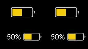 Обязанность батареи, разрядка батареи Анимация петли иллюстрация вектора