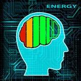 Обязанность батареи шток померанца иллюстрации предпосылки яркий Стоковые Фотографии RF