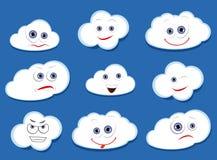 Облака вектора шаржа Стоковое Изображение