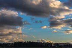 Облака вечера Стоковое Изображение RF
