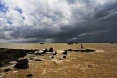 Облака взморья Стоковые Фото