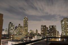 Облака в движении в верхнем Ист-Сайд Стоковое Фото